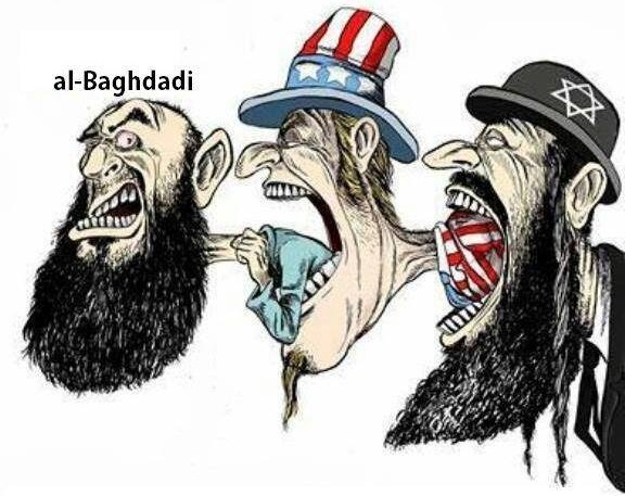 Image result for ISIS MOSSAD Alliance CARTOON
