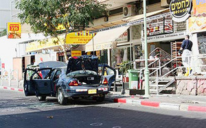 Scene of the bombing, Eilat, Monday Jan 29 2007